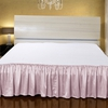 Rosy Pink Silk Bed Skirt