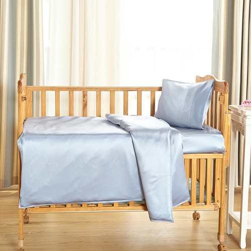19 Momme juego de sábanas de cuna