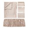 Apricot Silk Crib Bedding Set