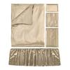 Coffee Silk Crib Bedding Set