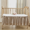 Coffee Silk Crib Bedding