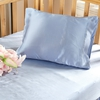 Light Blue Silk Cot Bed Linen Set