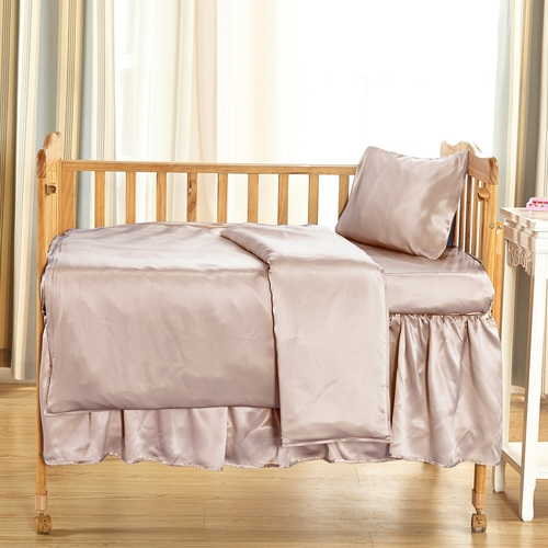 Apricot Silk Crib Bedding