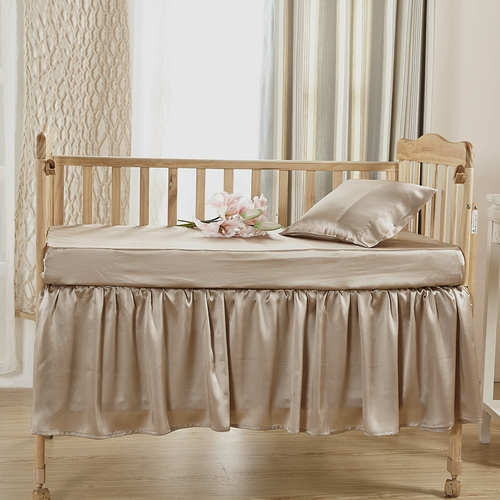 19 Momme Silk Crib Bedding Set