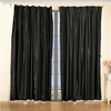 Black silk curtain
