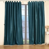 Dark Teal Silk Curtain