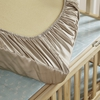 Taupe Silk Crib Fitted Sheet