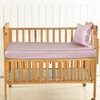 Rosy Pink Silk Baby Crib Fitted Sheets