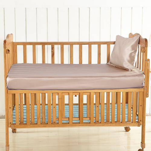 Apricot Silk Crib Fitted Sheet