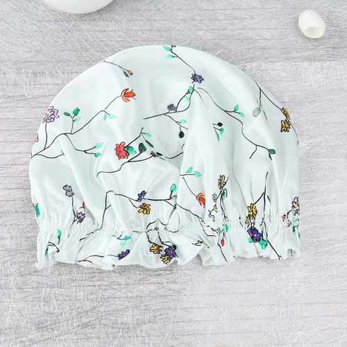 19 Momme Silk Fresh Spring Print Sleep Cap