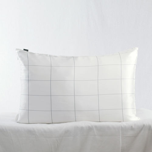 19 Momme Silk Square Plaid Printing Pillowcase