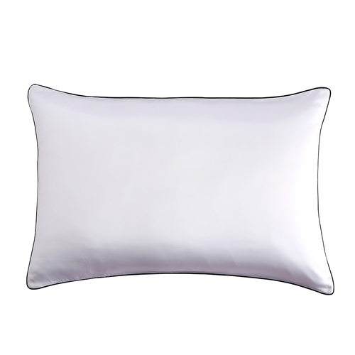 19 Momme Terse Silk Pillowcase With Piping