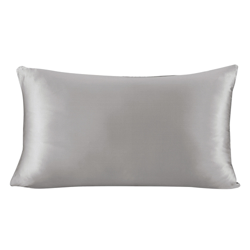 Silvergray Silk Pillowcase
