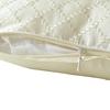 Beige Silk Pillow Cover