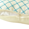 Bright Blue Silk Pillow Cover