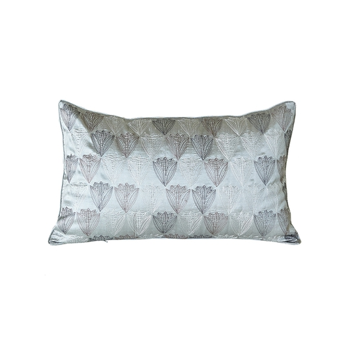 Gray & Purple Silk Pillow Cover