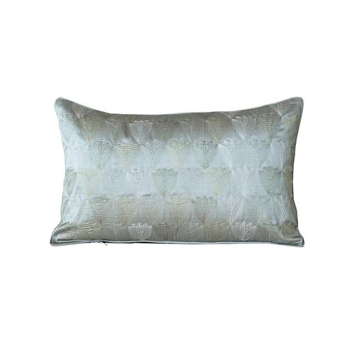 Gray & Purple Silk Pillow Cover