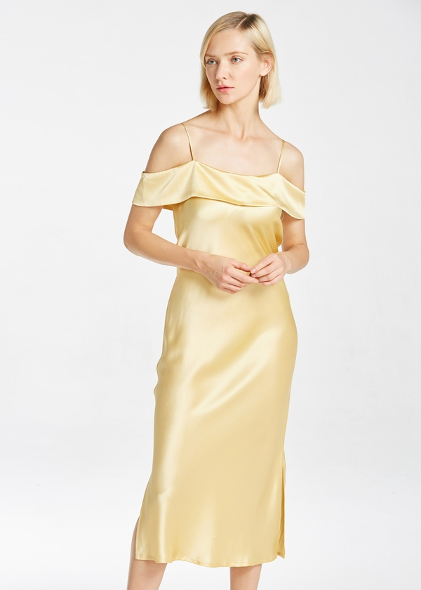 19MM Elegant Silk Evening Dress Hot Sale on Lilysilk