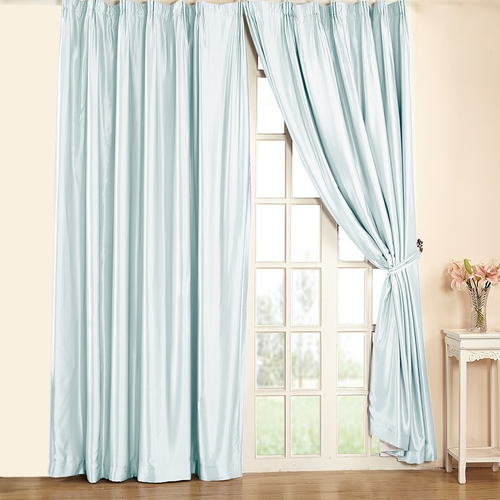 19Momme Silk Curtain Pinch Pleat Header