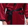 Claret&Black Men Silk Robe