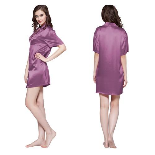 Violet Women Silk Nightshirt