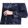 Navy Blue Women Silk Pajama