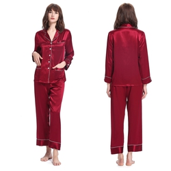 Women Trimmed Silk Pyjamas