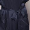 Navy Blue Women Silk Dressing Gown