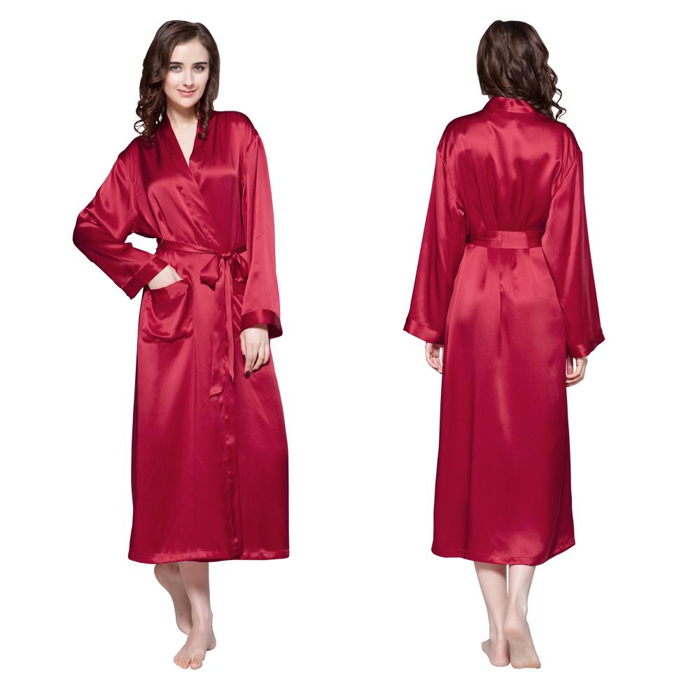 22 momme classic full length silk robe. Black Bedroom Furniture Sets. Home Design Ideas