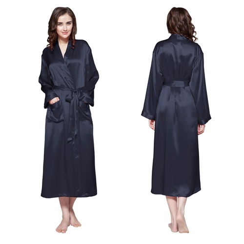 22 Momme Classic Full Length Silk Dressing Gown
