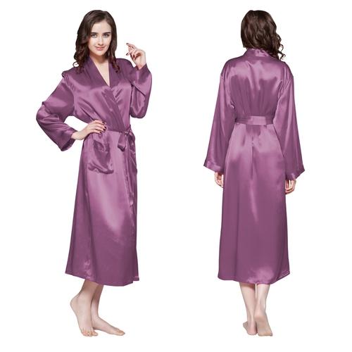 Robe De Chambre En Soie Longue Classique