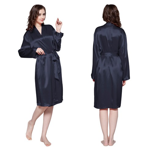 22 Momme Classic Mid Silk Dressing Gown