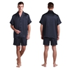 Navy Blue Men Silk Pyjamas