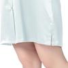 Light Sky Blue Plus Size Silk Nightgown