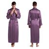 Violet Men Silk Robe