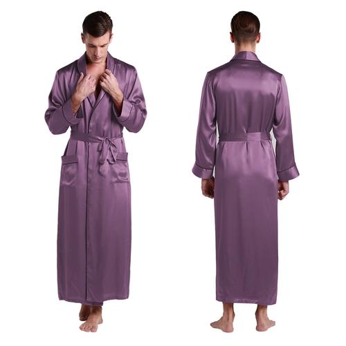 22 Momme Contra Full Length Silk Robe