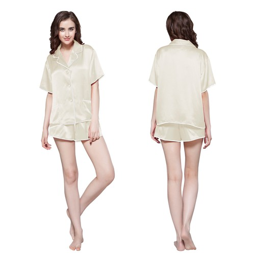 22 Momme Contra Short Silk Pyjamas Set
