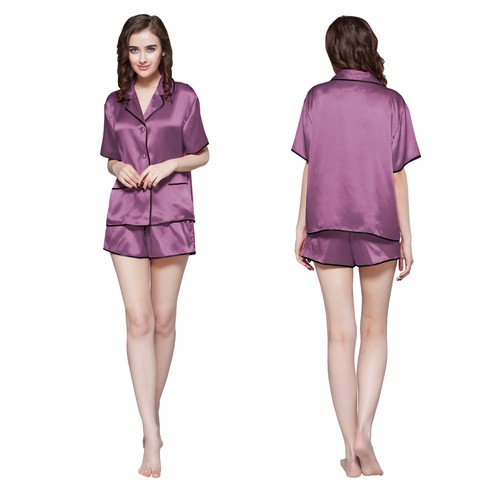 22 Momme Contra Short Silk Pajama Set