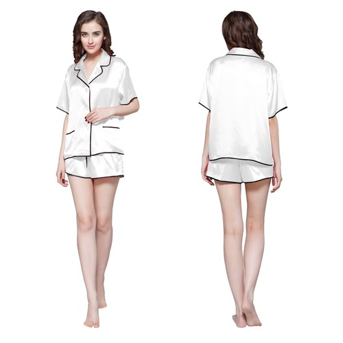 White Silk Pajamas
