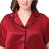 Claret Plus Size Silk Pyjamas