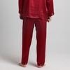 Rojo Vino Pantalón Seda Hombre