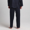 Navy Blue Men Silk Pants