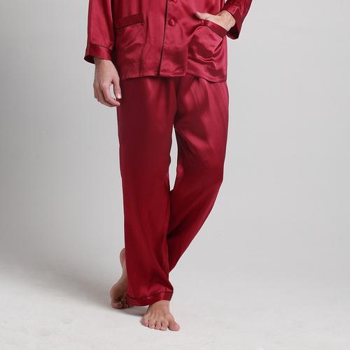 22 Momme Pantalón de Seda de Longitud Completa contra Recorte