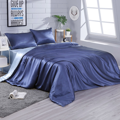 22 Momme Contrast Color Silk Bedding Set