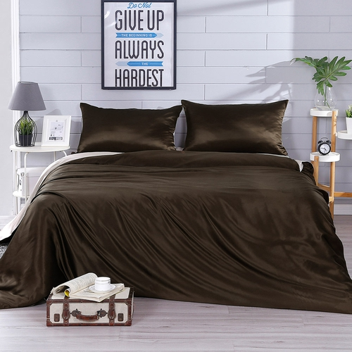 22 Momme Contrast Color Silk Duvet Cover