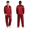Claret Men Silk Pajamas