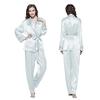Light Sky Blue Women Silk Pyjamas