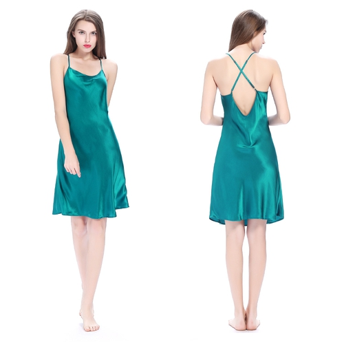 22 Momme Crossed Back Silk Nightgown