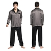 Dark Gray Men Silk Pyjamas