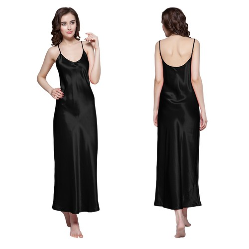 Black Silk Nightgown